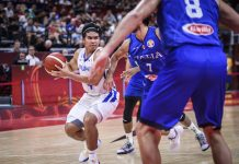 Kiefer Ravena of Gilas Pilipinas looks for an open teammate against Italy at the FIBA World Cup 2019. (Photo: FIBA)